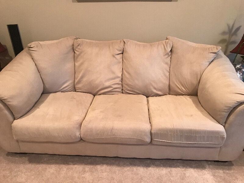Microsuede Sofa | Couches U0026 Futons | Calgary | Kijiji