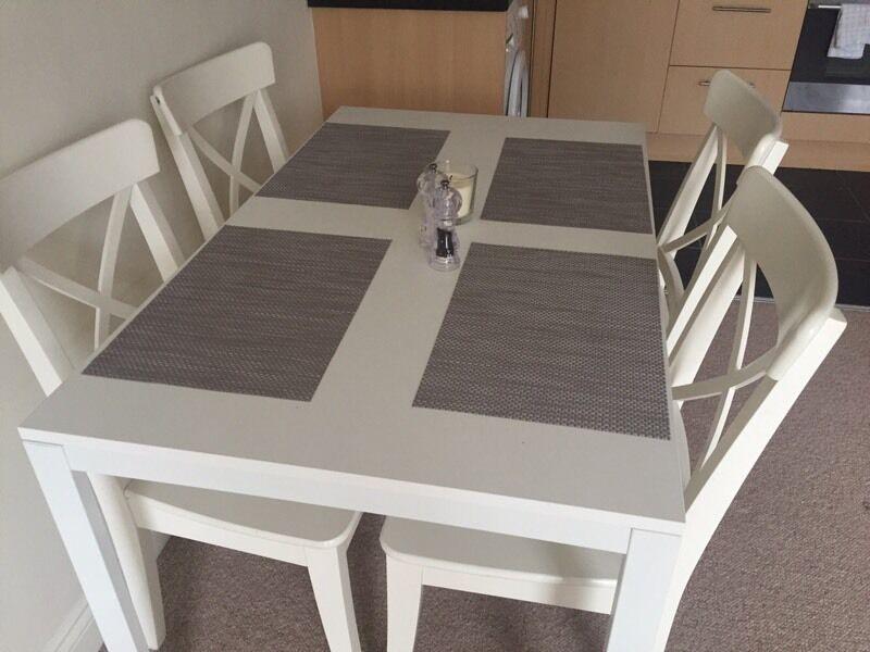 IKEA Melltorp Table U0026 4 Ingolf Chairs
