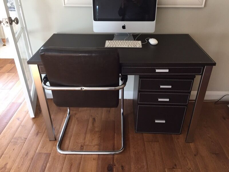 John Lewis faux leather desk chair and drawer cabinet & John Lewis faux leather desk chair and drawer cabinet | in Lower ...