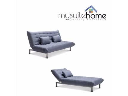 parramatta york modular chaise fabric futon click clack sofa bed