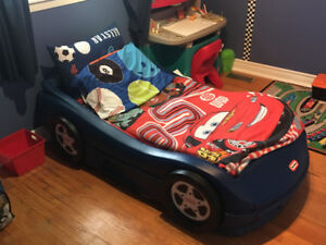 little tykes car bed toddler size