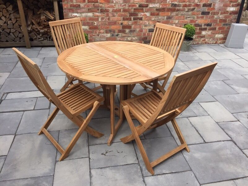 Garden Table And Chairs (wooden, Teak, Bistro, Set, Bu0026Q, Patio Part 44