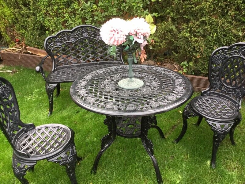 Perfect Garden Table And Chairs And Bench
