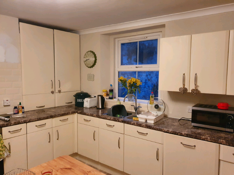 Free Cream Kitchen Cupboards And Drawers | In Plymouth ...