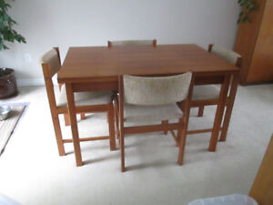 Teak Dining Room Table A 6 Chairs U0026 China Cabinet