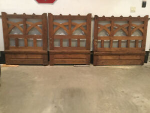 Antique English Garden Gate With Matching Carriage Gates