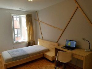 ROOM IN DOWNTOWN,3 MIN WALK TO PAPINEAU METRO ALL INCLUSIVE