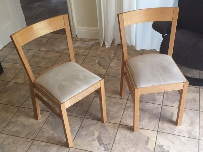 2 X oak IKEA Roger chairs & 2 X oak IKEA Roger chairs | in York North Yorkshire | Gumtree