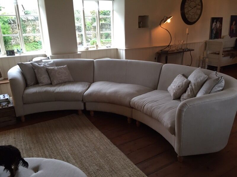 Delightful Curved Sofas Part - 3: Laura Ashley Curved Sofa As New