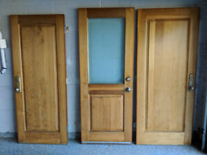 2 Exterior Cedar Doors With Lock And Keys