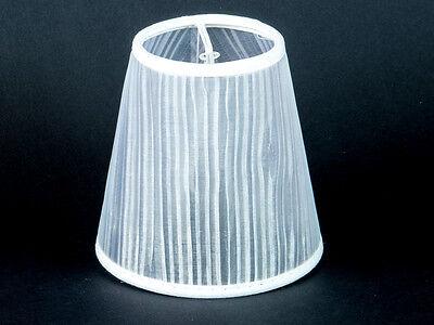 Lampenschirm Tüll Klemmschirm Organza Weiss Kronleuchter Nachttischlampe
