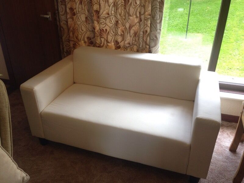 Small, Compact Ikea Klobo 2 Seater Sofa   Flat Pack