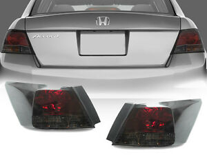 DEPO JDM Red / Smoke Rear Tail Lights Pair For 2008 2010 Honda Accord 4D