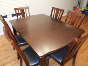 Dark Brown Dining Table And 6 Chairs