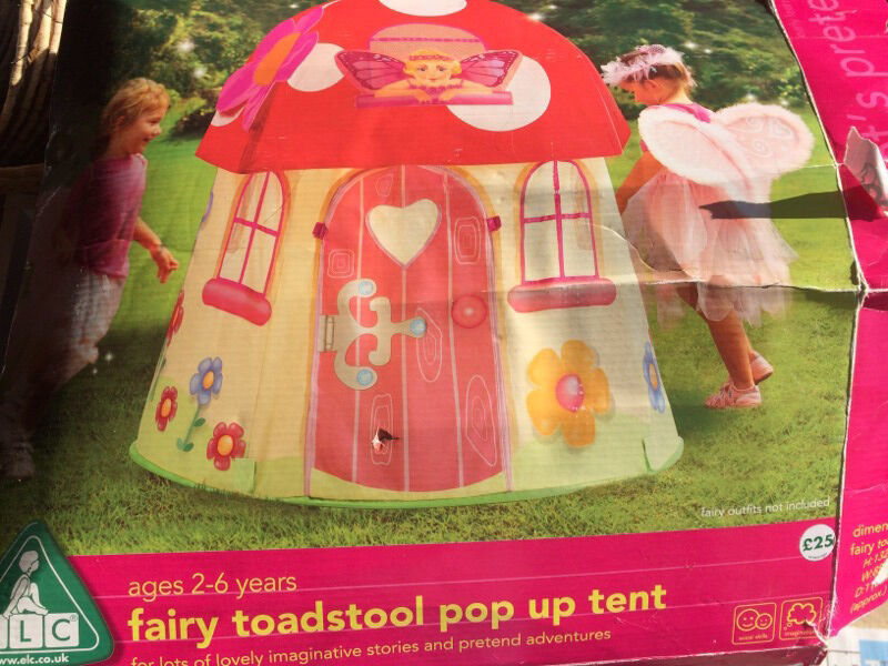 ELC Early Learning Centre Fairy Toadstool pop up tent / playhouse & ELC Early Learning Centre Fairy Toadstool pop up tent / playhouse ...