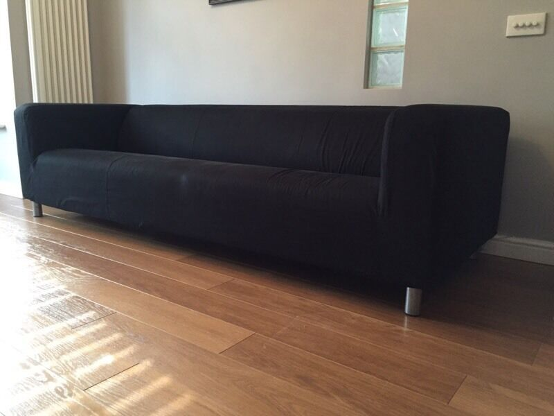 4 Seater IKEA Klippan Sofa With Removable Black Cover