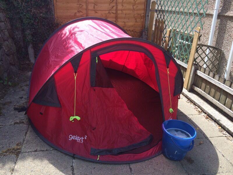 Gelert Quickpitch Deluxe 3 tent 3 man person & Gelert Quickpitch Deluxe 3 tent 3 man person | in Plymouth Devon ...