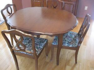 French Provincial Dining Room Set With Buffet Pure Wood Part 45