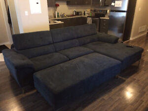 aidan 2 piece sectional with chaise and ottoman buy or sell a couch or futon in toronto  gta    furniture   kijiji      rh   kijiji ca