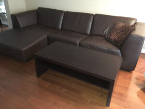 Dark Brown Coffee Table With Shelf From Ormes Furniture