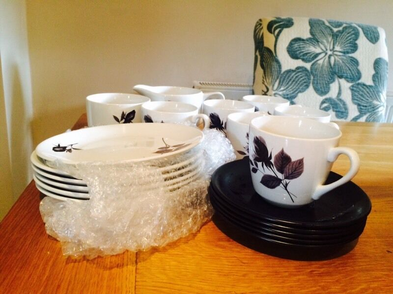 British Anchor Hostess Tableware Romance China tea set & British Anchor Hostess Tableware Romance China tea set | in ...