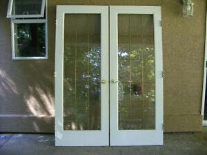 French Doors white with gold handles and hinges & Local Deals on Windows Doors u0026 Trim in Victoria | Home Renovation ...
