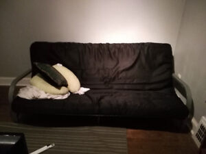 london  free black futon with silver frame futon   buy or sell a couch or futon in london   kijiji classifieds  rh   kijiji ca