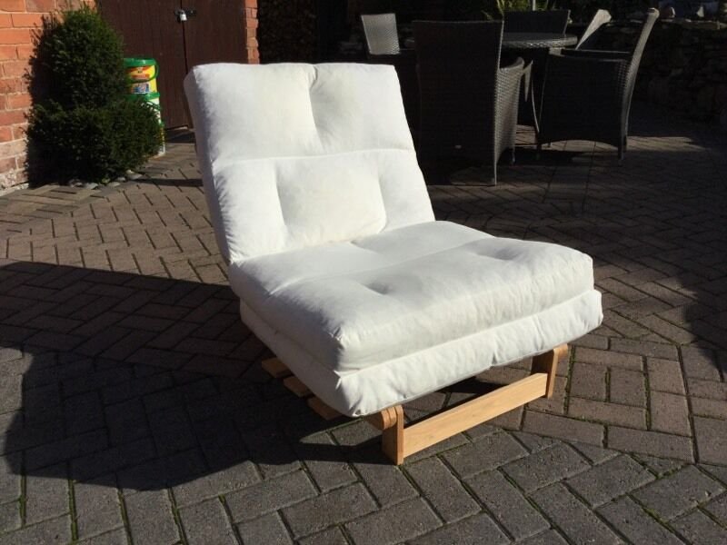 Ikea Munkarp Single Bed Chair Futon In Cream Loughborough