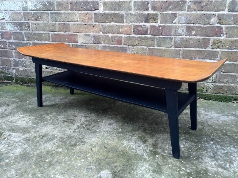 Sleigh Coffee Table Part - 38: Mid Century Myer Sleigh Coffee Table Teak Retro Vintage 50s 60s 70s G Plan  Danish