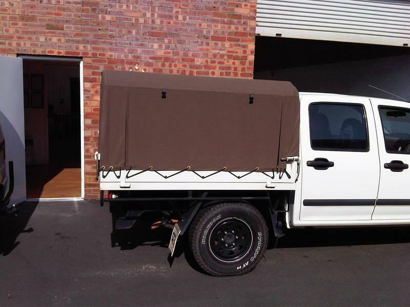 1 of 10 & Ute Canvas Canopy and PVC and Cage Trailer Canopy Cover Perth ...