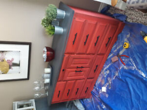 Farmhouse RED Sideboard.