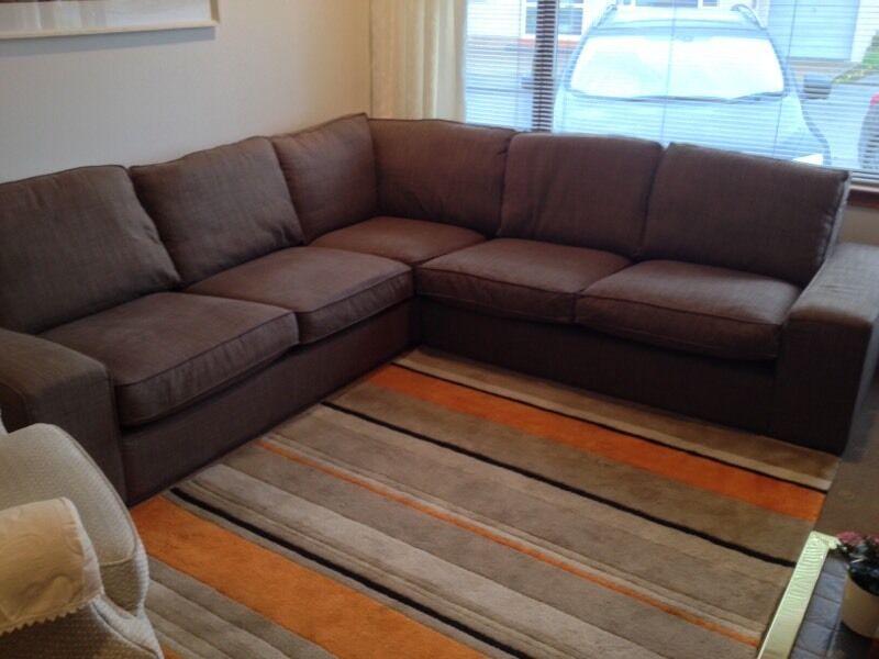 Beau Ikea KIVIK 2+2 Corner Sofa, Isunda Brown