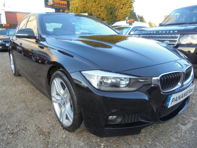 2014 14 BMW 3 SERIES 2.0 320D M SPORT 4D 181 BHP BLACK COLOUR BLACK LEATHER