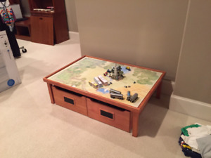 Kids Play / Train Table With Drawers From Pottery Barn Kids