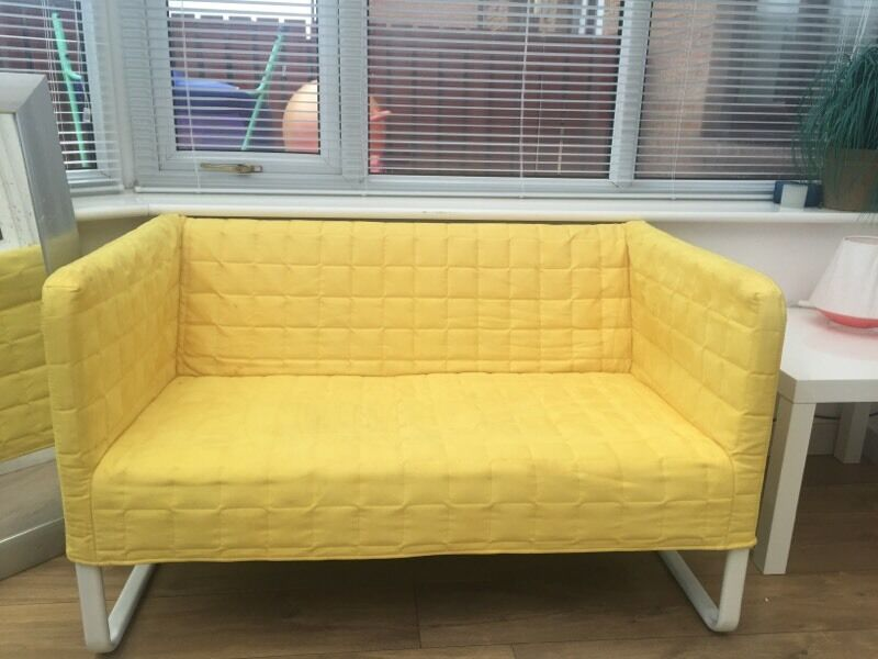 2 X Knopparp IKEA Small Yellow Sofas £30 Each Or 2 For £55