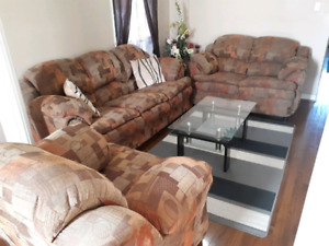 3 Piece Couch Set (Couch, Love Seat, And Arm Chair)