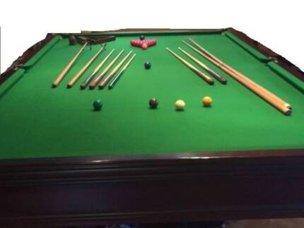 Snooker Table Full Size 12 Foot X 6 Foot FREE DELIVERY AND SET UP