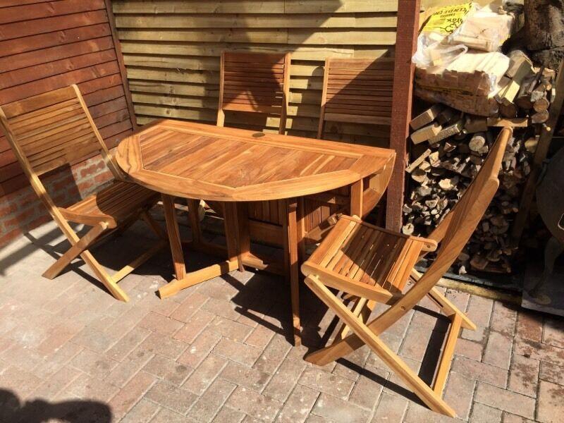 Charmant U0027Roscanau0027 Teak Table And Chairs BNIB (retails For £400)