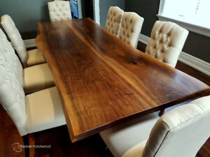 Nice Live Edge Table Walnut Slab Table Dining Table Custom Wood Table
