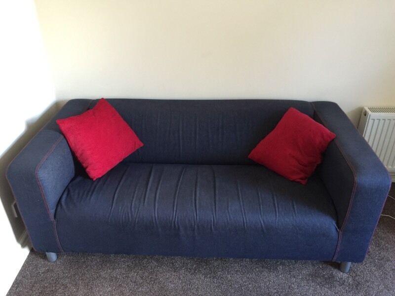 Superb IKEA Klippan 2 Seat Sofa   Denim Blue