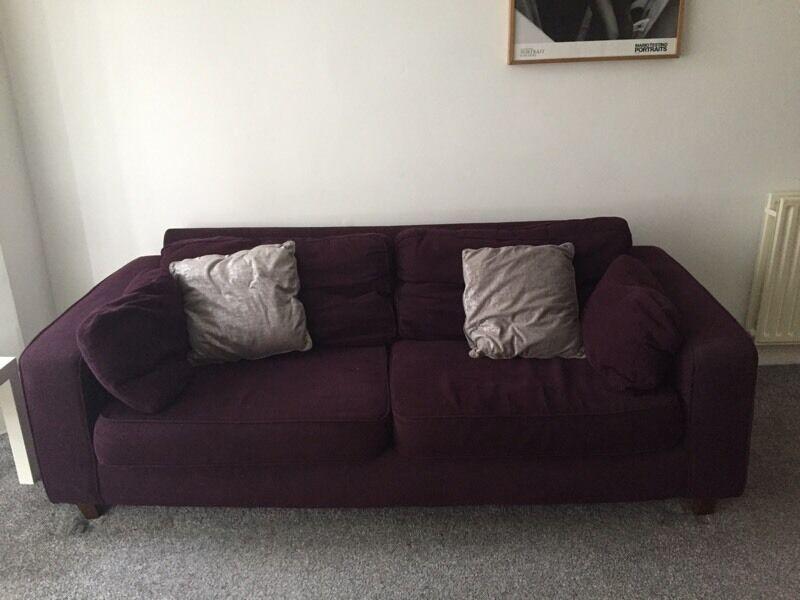 Lovely Aubergine Sofa