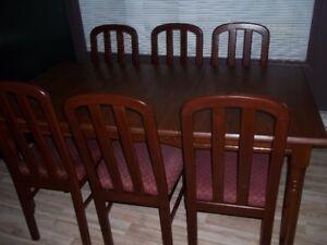 ♥Set De Cuisine En Bois Massif Table+6chaises