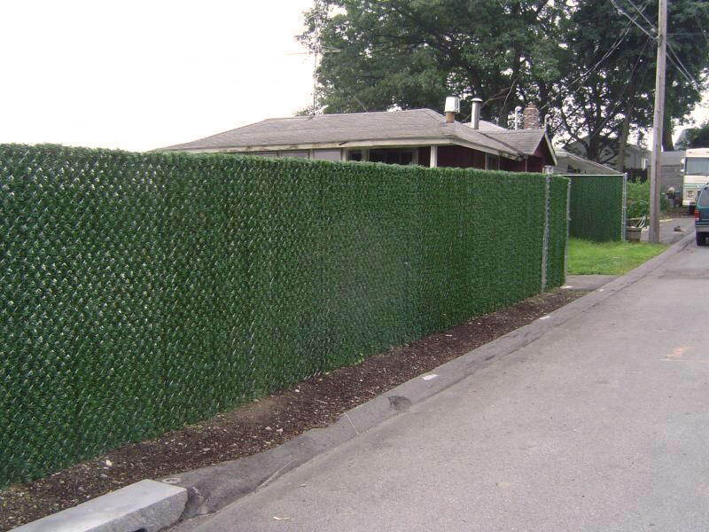 how to cover a chain link fence - Chain Link Fence Slats