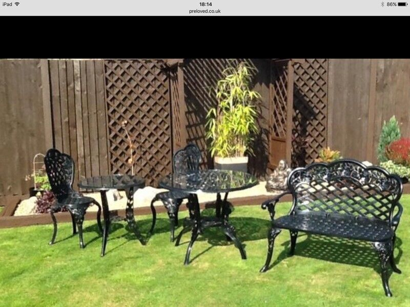 Lovely Garden Table And Chairs And Bench 2 Table