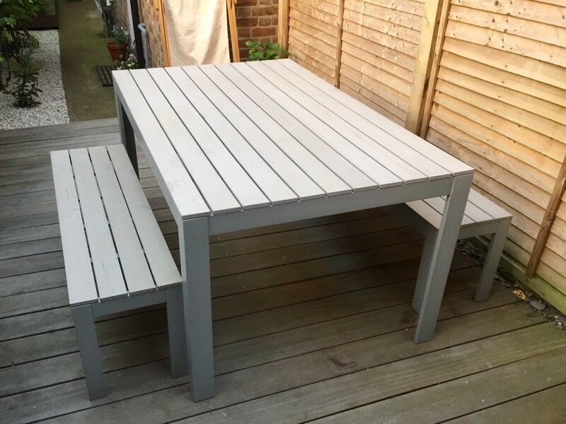IKEA U0027Falsteru0027 Outdoor Dining Set (table U0026 2 X Benches) In Great Condition