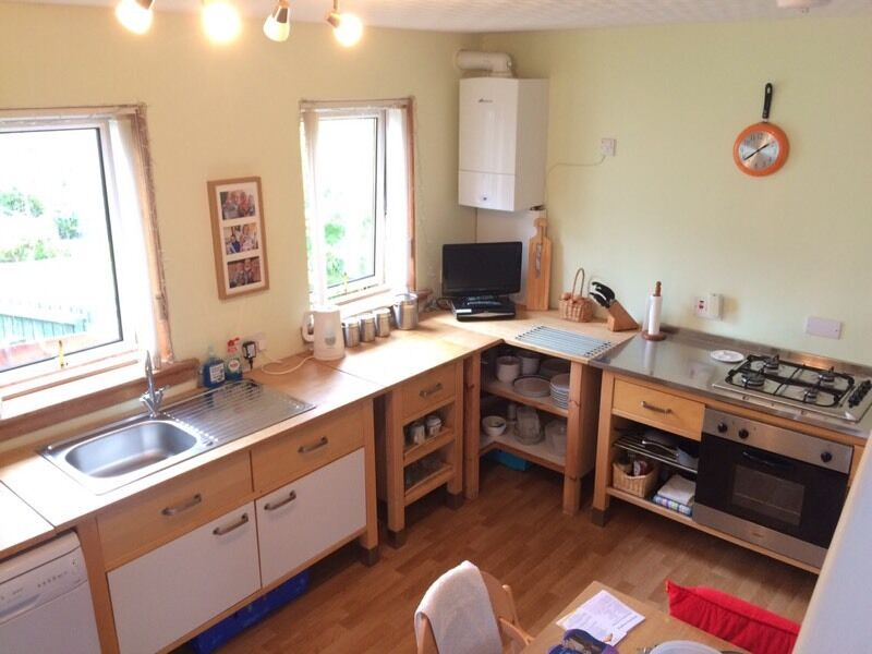 Complete Ikea Varde Kitchen Includes Oven Hob Fridge Washing Machine  Dishwasher Sink Unit