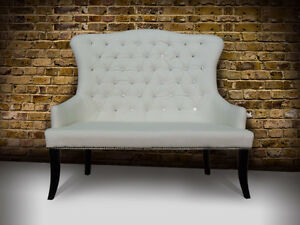 Fabulous Wedding Chair/Bench For Bride And Groom Rental