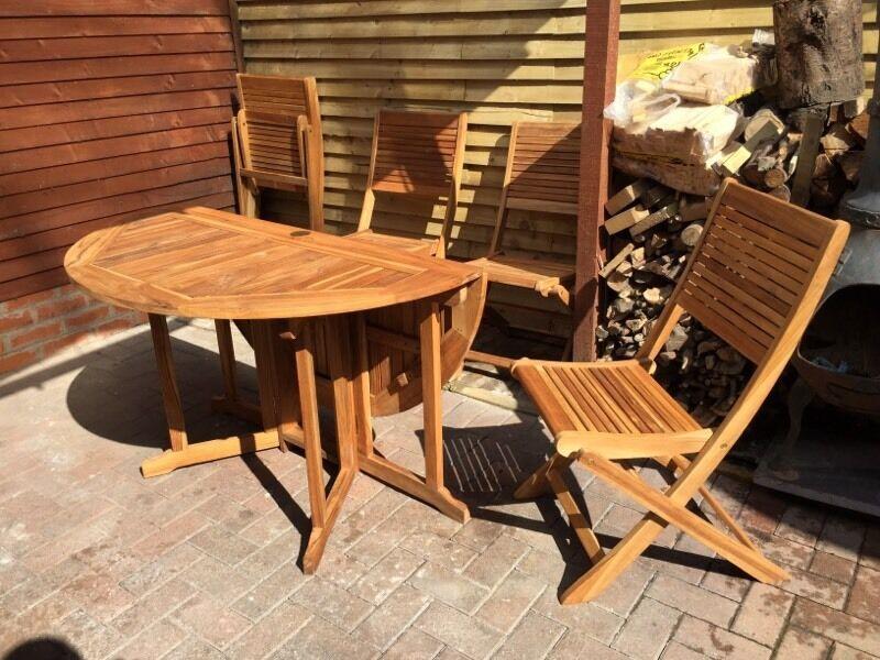 Merveilleux Teak Table And Chairs U0027Roscanau0027 BNIB (Bu0026Q Retails For ...