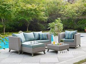Ifurniture Warehouse Sale   VALENCIA 4 PCS Patio Sofa Set * Aluminum Frame