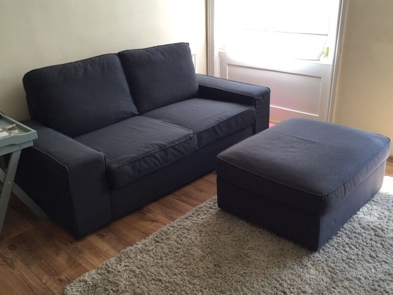 IKEA KIVIK SOFA In Dansbo Dark Grey (RRP:£350)
